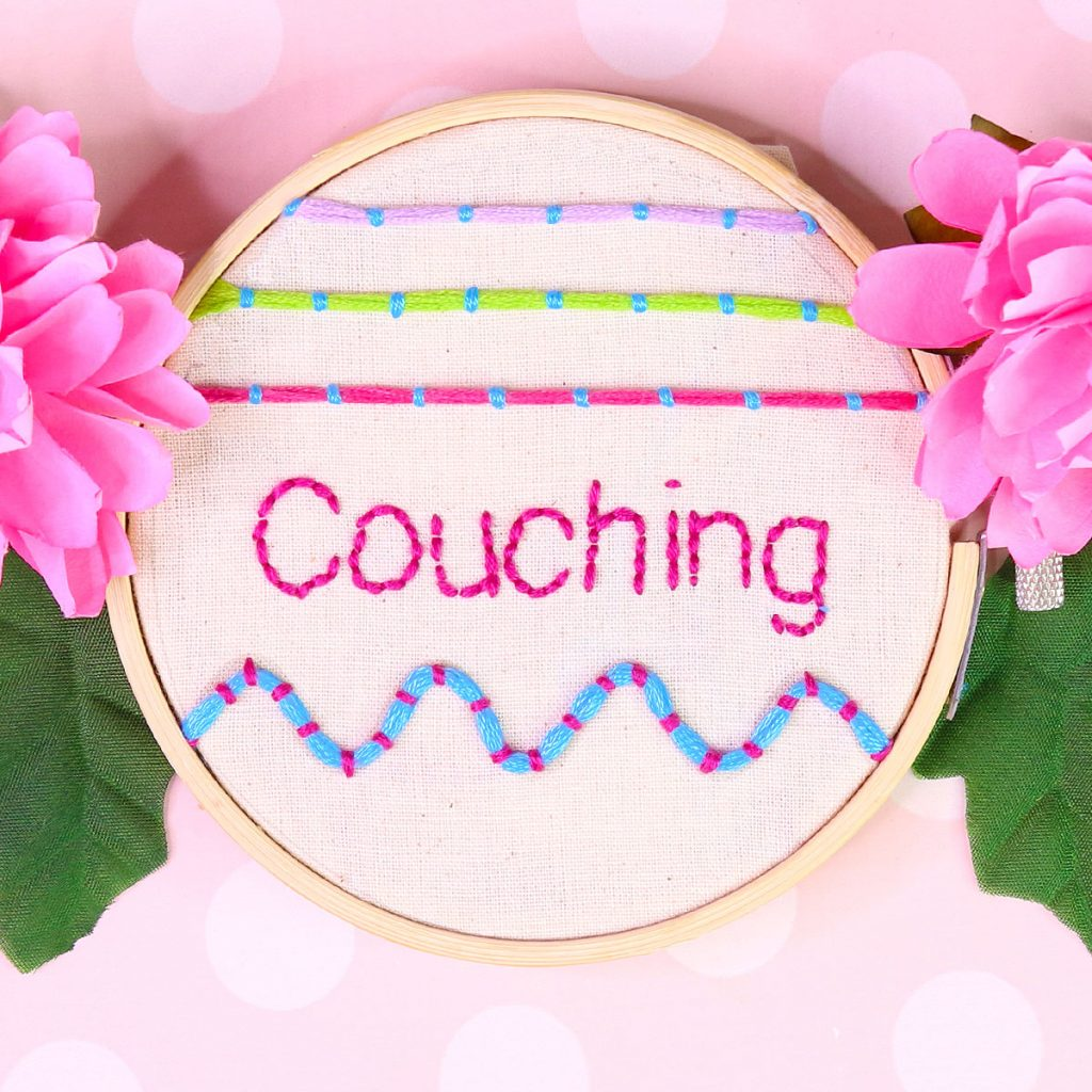 couching embroidery tutorial