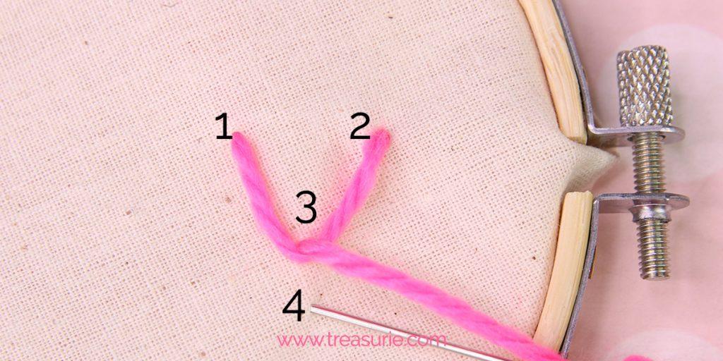fly stitch step 4