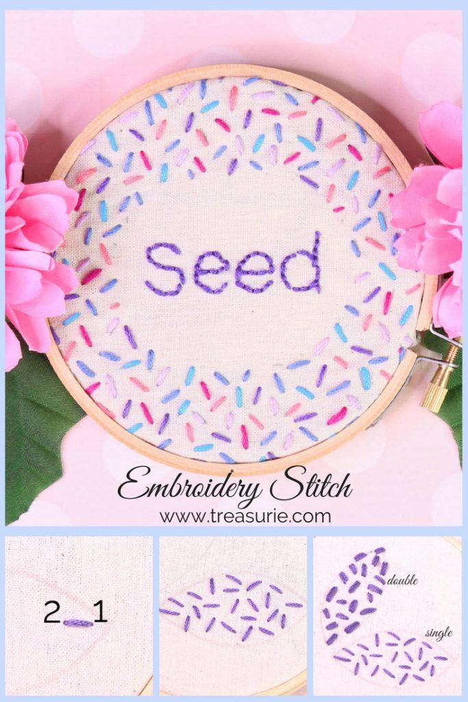 seed stitch embroidery, rice stitch