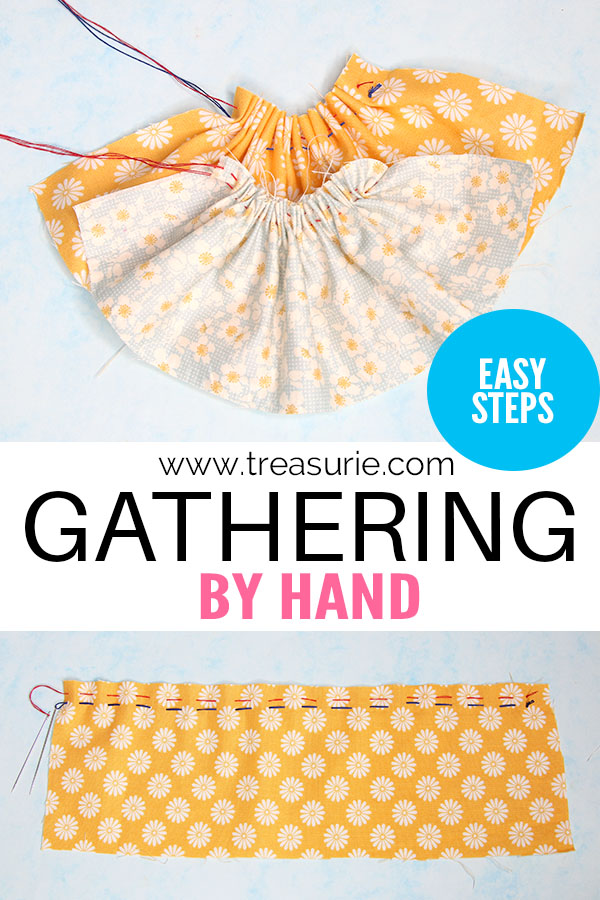 gathering by hand, how to gather by hand