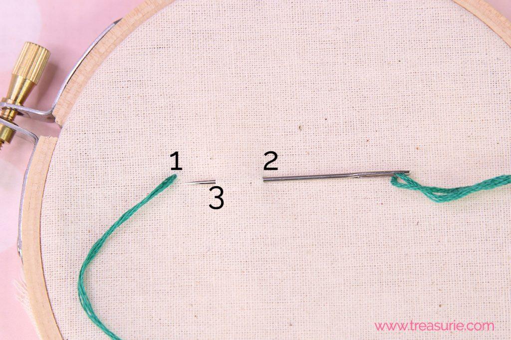 step 2 - stem stitch