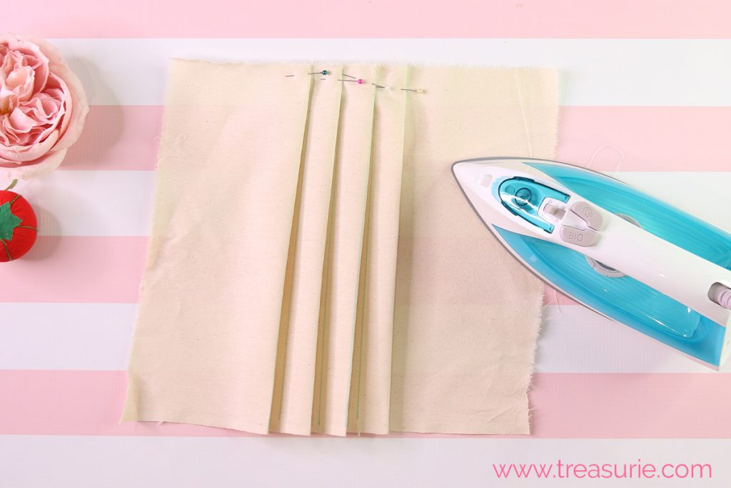 how to sew knife pleats