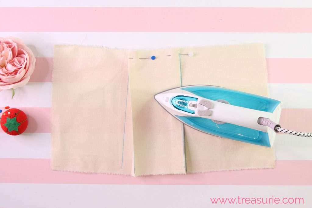 how to sew a box pleat