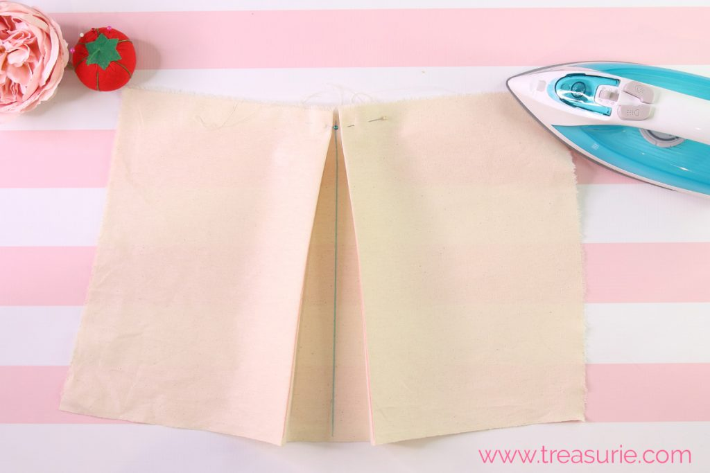how to sew inverted pleats