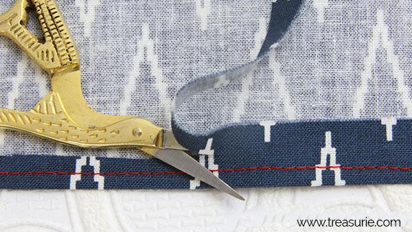 narrow hem with sewing machine step 2