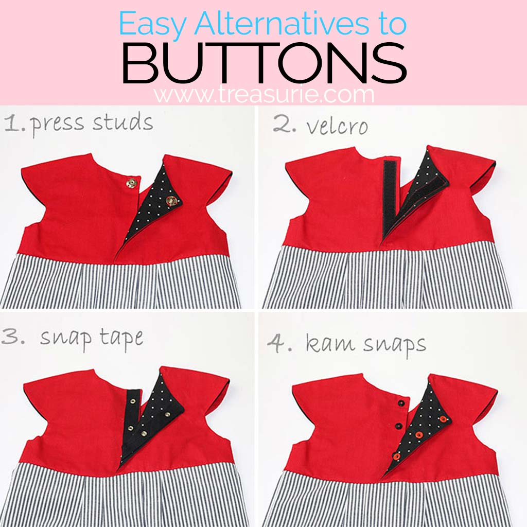 Alternatives to Buttons, Alternatives to Buttonholes