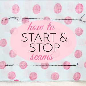 how to stop and start a seam