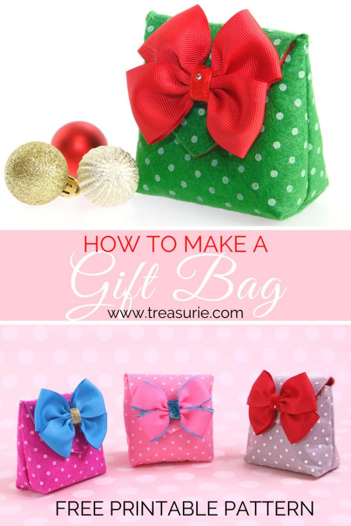 how to make gift bag. diy felt gift bag