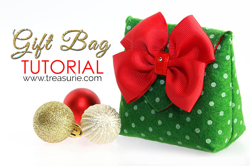 how to make a gift bag, diy felt gift bag