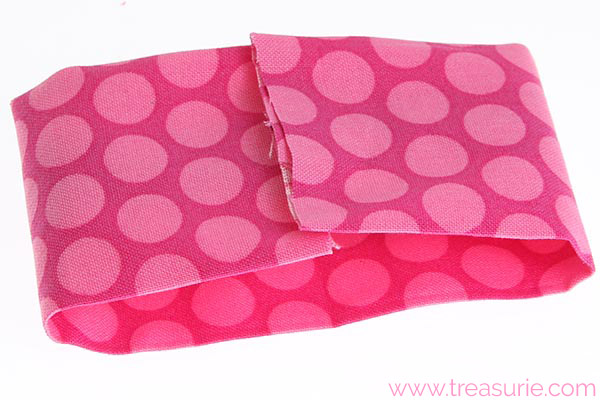 diy fabric bow step 3
