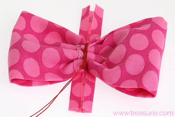 diy fabric bow step 5