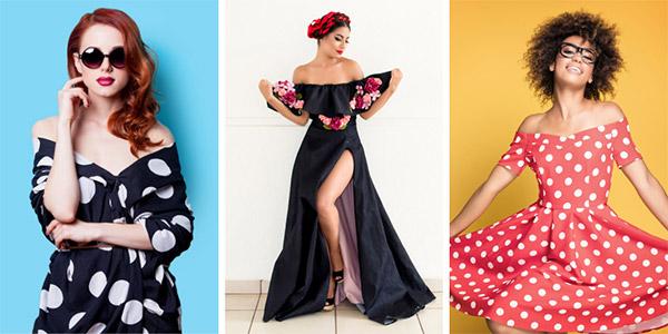 Types of Dresses - Off Shoulder