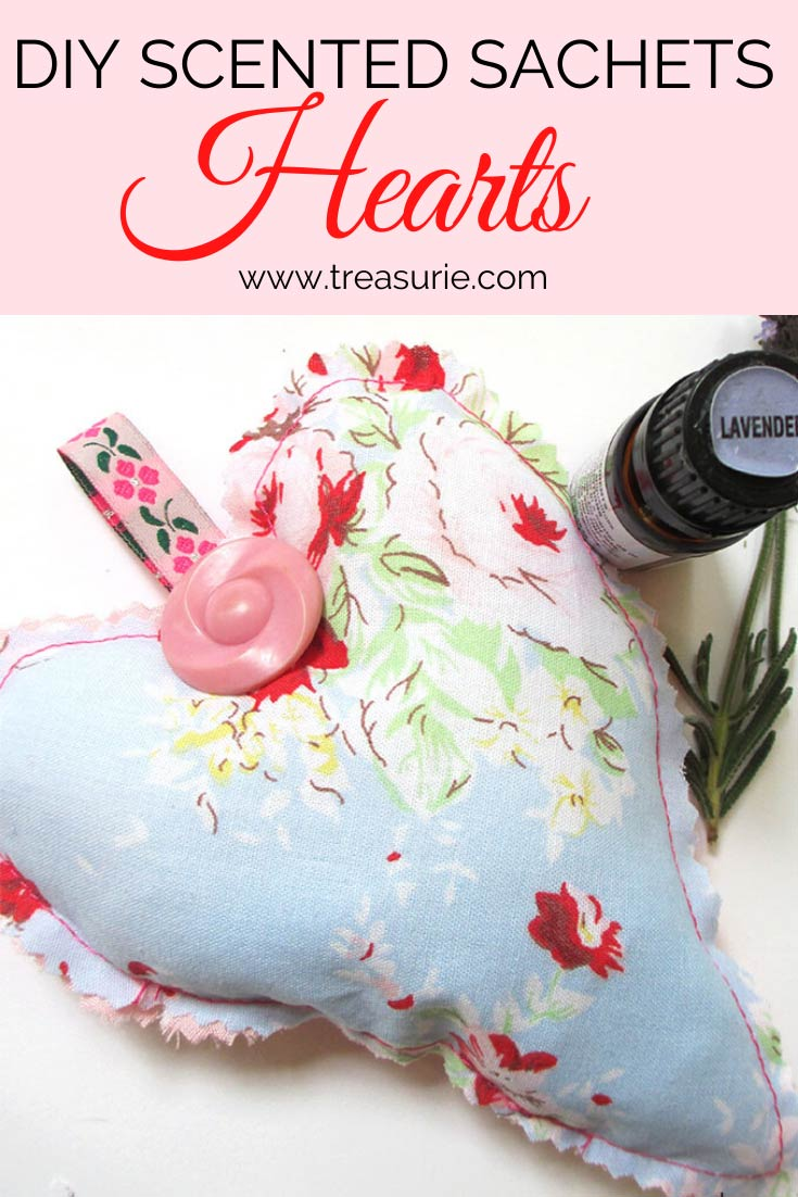 Diy Scented Sachets Heart Sachet For Your Drawers Treasurie