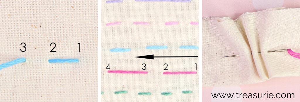 Running Stitch for Reverse Applique