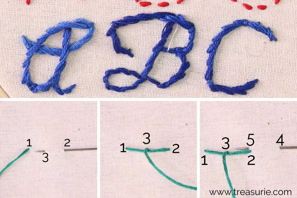 Embroidery Letters Easiest Stitches For Letters Treasurie