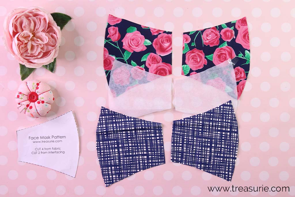 Face Mask Pattern - Fabric Pieces