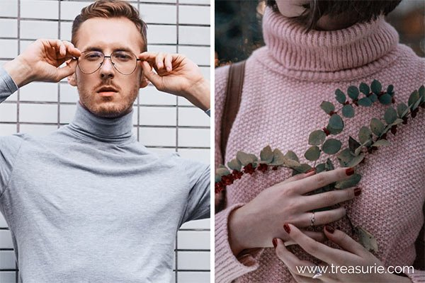 Types of Collars - Turtleneck