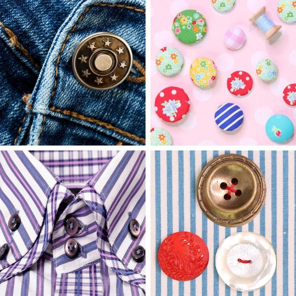 Button clothes fastenings