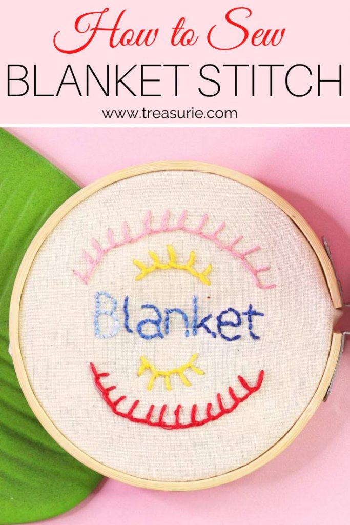 Blanket Stitch How To Do Blanket Stitch For Beginners Treasurie