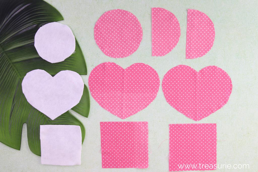 Pieces for the DIY Fabric Coaster