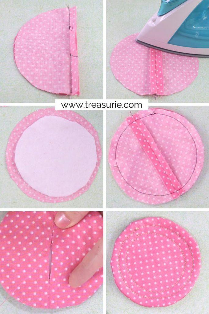Circle Shape DIY Fabric Coasters