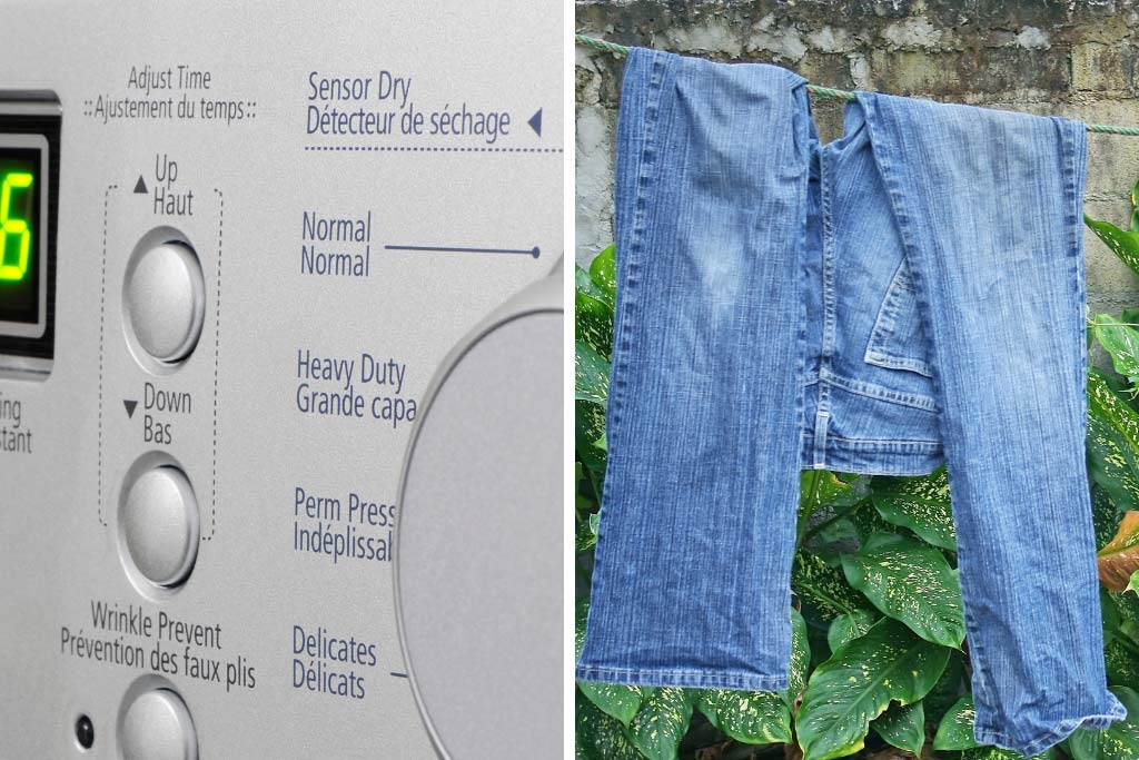 Tumble Dry vs Air Dry for Jeans