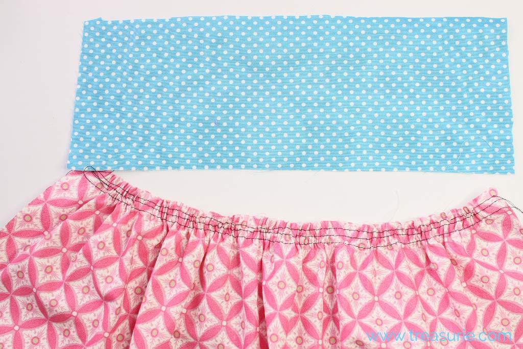 Waistband and Gathered Skirt
