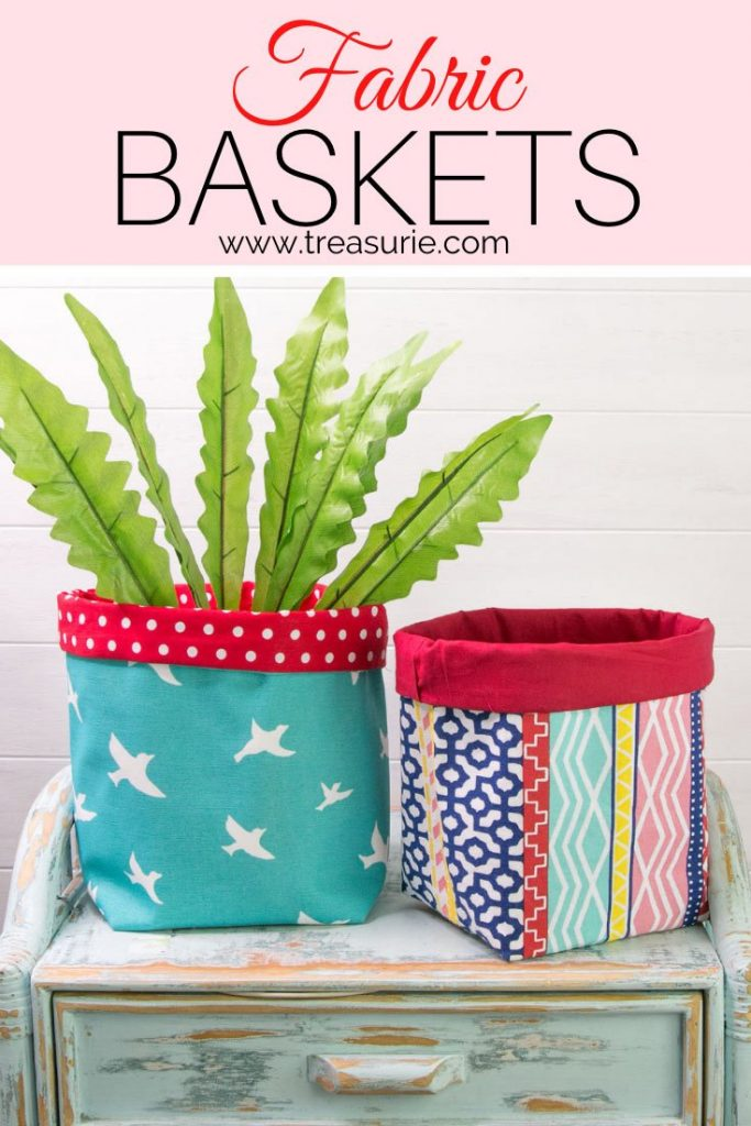 Fabric Basket Pattern Easy Tutorial For 5 Sizes Treasurie